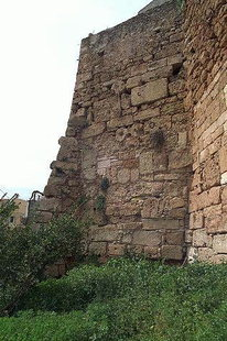 The Kastelli wall made from ancient remainders, Chania