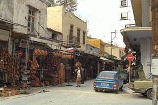 The shopping area in Leather Street, Chania
