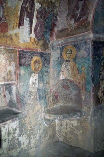A fresco (dated 1455) by Emmanuel and Ioannis Fokas, Agios Konstantinos Church, Avdou