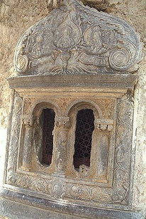 Un détail de l'église d'Agios Georgios à Avdou