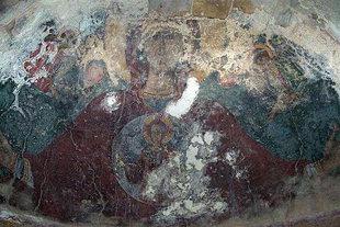 The Panagia fresco in the church of the Panagia Kera Grameni, Meseleri