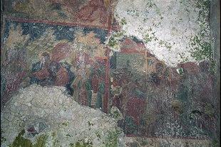 A fresco in the church of the Panagia Kera Grameni, Meseleri