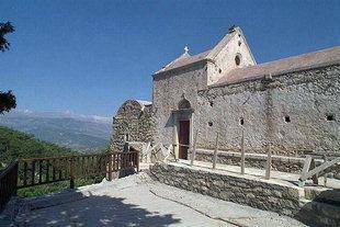 La chiesa del Monastero di Panagìa Vriomeni, Meseleri