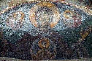 L'affresco di Panagìa nella chiesa del Monastero di Panagìa Vriomeni, Meseleri