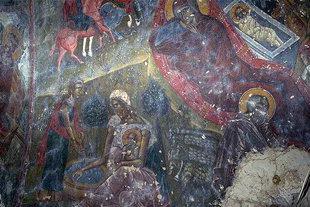 Un affresco della chiesa del Monastero di Panagìa Vriomeni, Meseleri