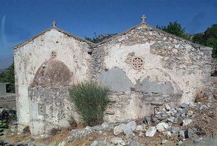 The church of Christos in Pano Simi