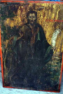 An icon in the church of Agios Ioannis Prodromos, Agios Vasilios