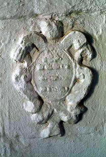 Venetian coat of arms in Agii Apostoli and the Panagia, Agios Vasilios