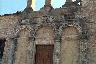 La fa(ade de l'église Byzantine d'Agios Thomas, Agios Thomas