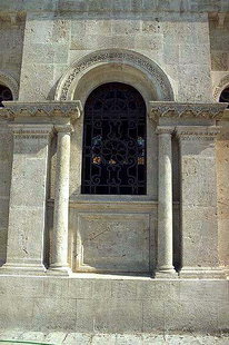 Window in Agios Minas Cathedral in Iraklion