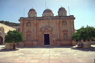 The church of Agia Triada Monastery