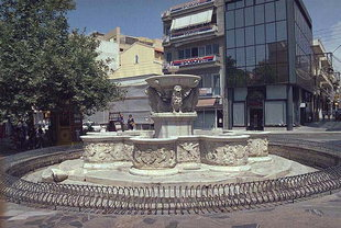 Morosini Fountain in the Lions Square, Iraklion