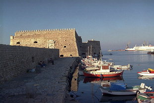 The Venetian fort and the harbour entrance, Iraklion