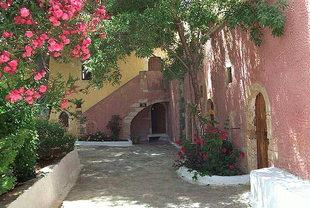 The courtyard of Moni Gouvernetou