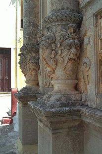 A detail of the church facade, Moni Gouvernetou