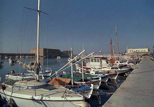 The Marina area of the harbour, Iraklion