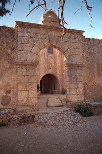 The refectory entrance, Moni Arkadiou