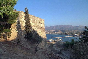 The Venetian fort and the harbour of Sitia