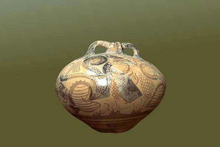 Marine-style stirrup jug in the Sitia Museum