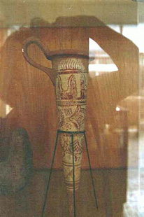 Minoan rhyton decorated with the bull's horn motive
