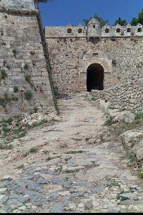 The entrance to the Fortezza, Rethimnon