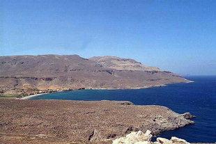 La plage devant l'endroit archéologique, Kato Zakros