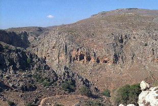 The Valley of Death near the Minoan site of Zakros