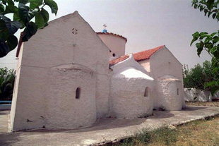 The Byzantine church of Agii Pandes, Fres