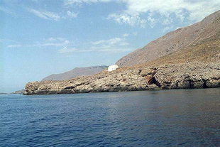 The small church on the eastern approach to Loutro