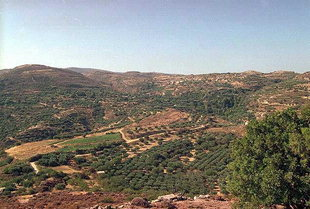View from the ancient city of Pressos