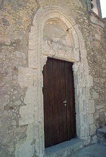 The portal of the Venetian church of the Voila Villa, Handras