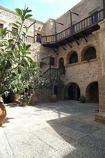 The cloister of the Toplou Monastery