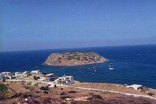 Το μικρό νησί μπροστά από το Μόχλο