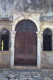 A Venetian portal in the Kastelli of Chania
