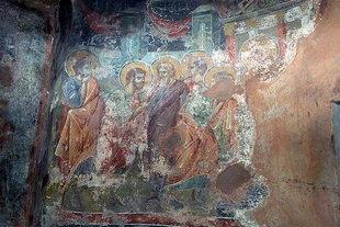 A fresco in Afentis Christos Church in Potamies