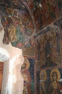 The frescoed interior of Afentis Christos Church in Potamies