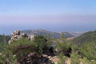Blick vom Dorf Pano Simi aufs Libysche Meer