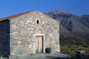 L'église Byzantine de Timios Stavros près de l'endroit de Lyttos