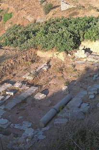 Ancient remains in Lyttos