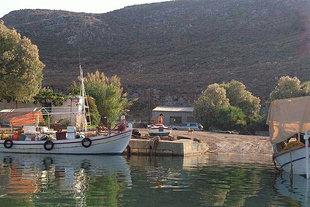 La rampa per imbarcazioni del porto turistico e da pesca