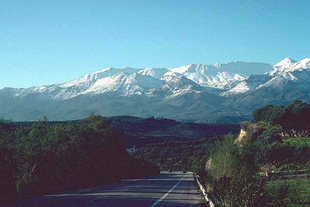 The Lefka Ori viewed from the National Highway in Apokoronas, Chania