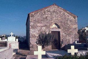 La chiesa di Agios Ioannis costruita su una basilica preesistente, Axos