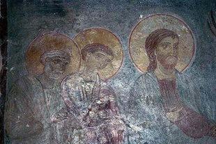A fresco in the Panagia Kardiotissa, Miriokefala