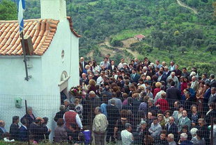 Crowds attending the Panigiri, Asigonia