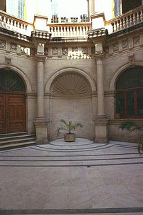 The inner courtyard of the Venetian Loggia of Iraklion