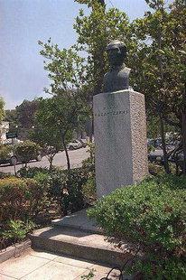 Le buste de Nikos Kazantzakis en Platia Eleftherias, Iraklion