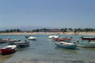 Small fishing harbour in Stavros, Akrotiri