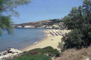 Der Strand von Kalathas, Akrotiri, Chania