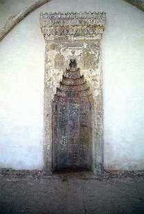 The mihrab of the Ibrahim Mosque in the Fortezza, Rethimnon