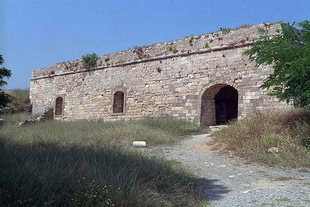The walls of Agios Lukas Bastion in the Fortezza, Rethimnon